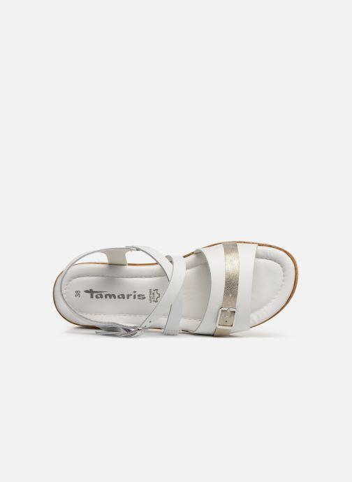 Sandales et nu-pieds Tamaris Regina Blanc vue gauche