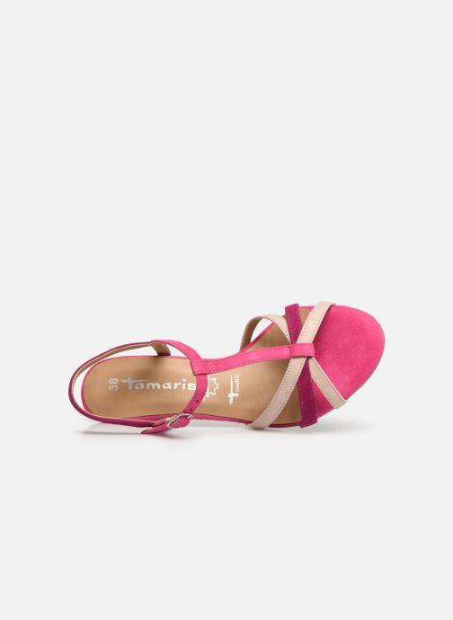 Sandales et nu-pieds Tamaris Ramona Rose vue gauche