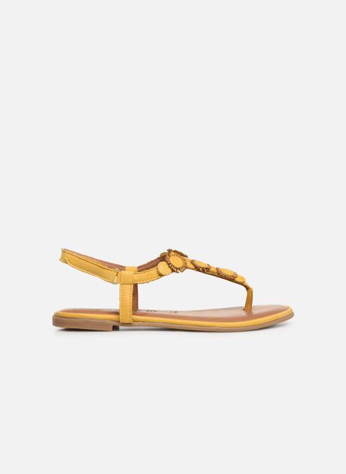 Sandales et nu-pieds Tamaris Simone Jaune vue derrière