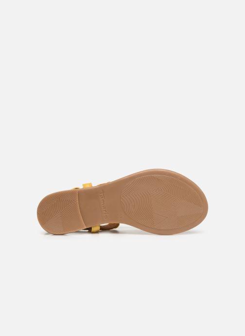 Sandales et nu-pieds Tamaris Simone Jaune vue haut