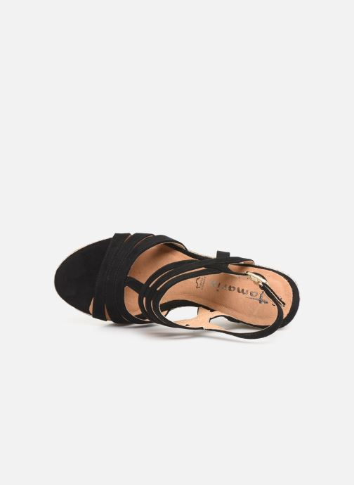 Sandales et nu-pieds Tamaris Thais Noir vue gauche