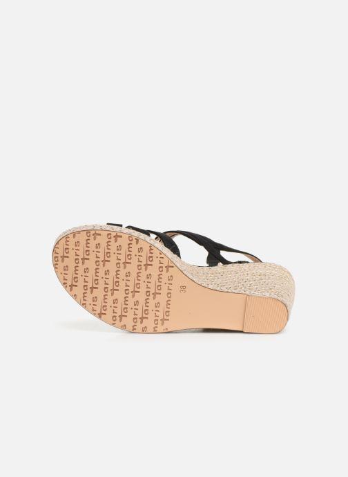 Sandales et nu-pieds Tamaris Thais Noir vue haut