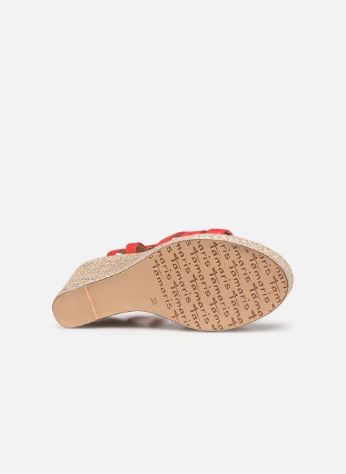 Sandales et nu-pieds Tamaris Thais Rouge vue haut