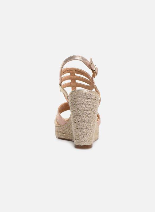 Sandales et nu-pieds Tamaris Thais Or et bronze vue droite