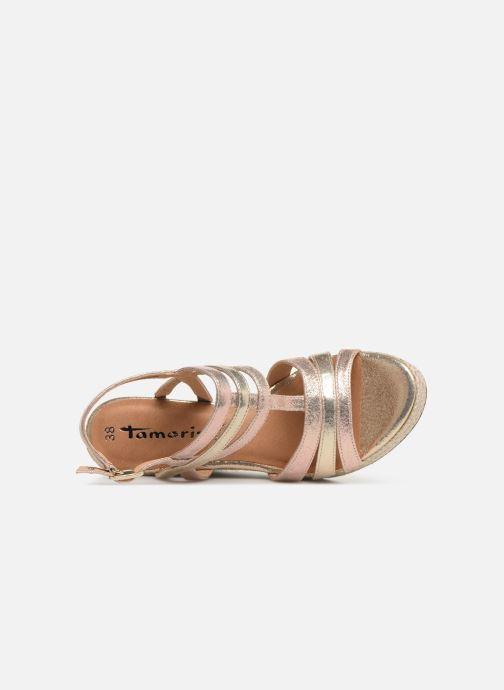 Sandales et nu-pieds Tamaris Thais Or et bronze vue gauche
