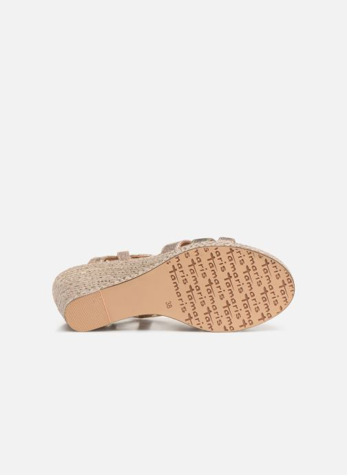 Sandales et nu-pieds Tamaris Thais Or et bronze vue haut