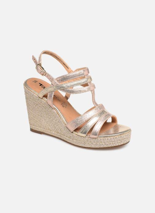Sandales et nu-pieds Tamaris Thais Or et bronze vue détail/paire