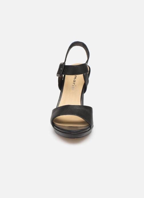 Sandales Chez noir pieds Susanne Et Tamaris Nu TAFqnf