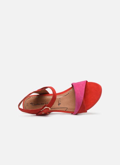 Sandales et nu-pieds Tamaris Ursula Rouge vue gauche