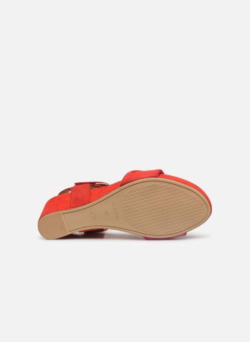 Sandales et nu-pieds Tamaris Ursula Rouge vue haut