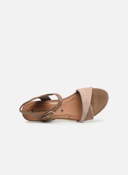 Sandales et nu-pieds Tamaris Ursula Marron vue gauche