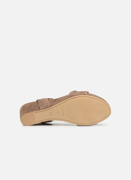 Sandales et nu-pieds Tamaris Ursula Marron vue haut