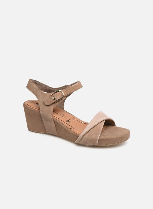 Sandales et nu-pieds Tamaris Ursula Marron vue détail/paire