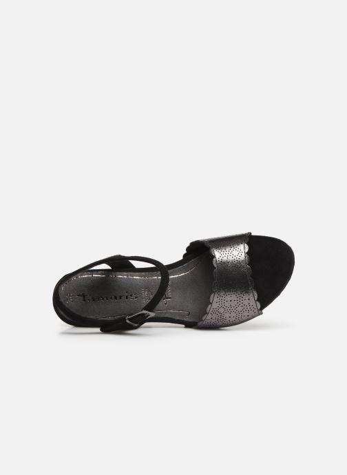 Sandales et nu-pieds Tamaris Vivienne Noir vue gauche
