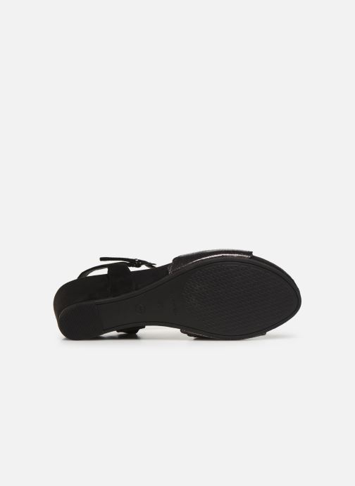 Sandales et nu-pieds Tamaris Vivienne Noir vue haut