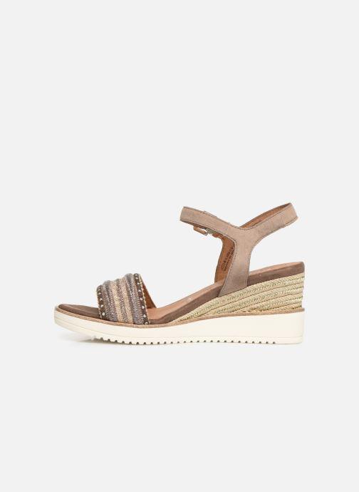 Sandales et nu-pieds Tamaris Zita Marron vue face