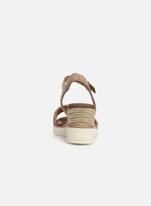 Sandales et nu-pieds Tamaris Zita Marron vue droite