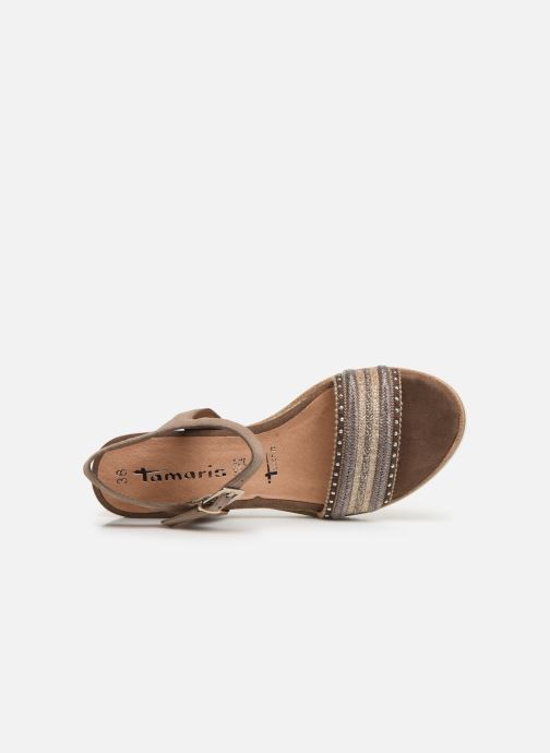 Sandales et nu-pieds Tamaris Zita Marron vue gauche