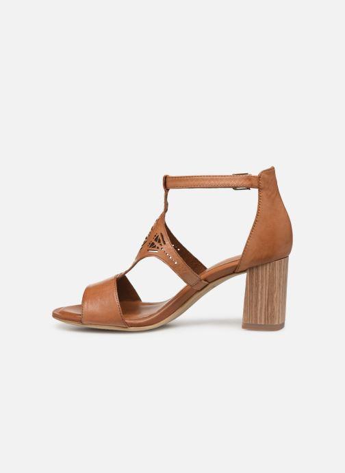 Sandales et nu-pieds Tamaris Alba Marron vue face
