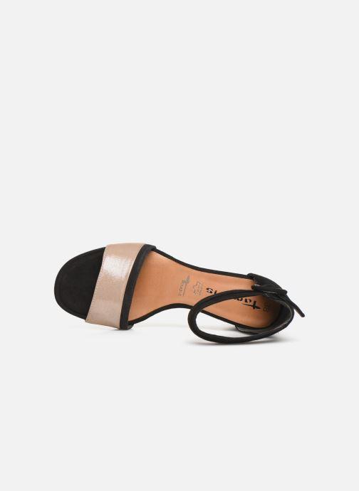 Black pieds Tamaris Rose Et Blanca Metal Sandales Nu 4Rj5LA3q