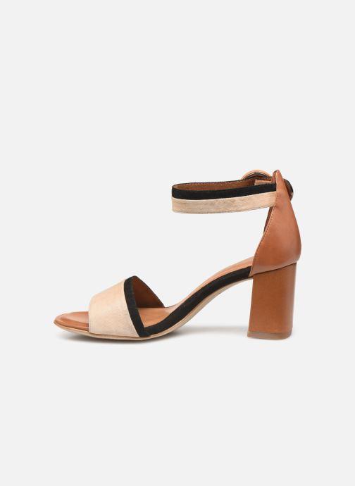 Sandales et nu-pieds Tamaris Blanca Marron vue face
