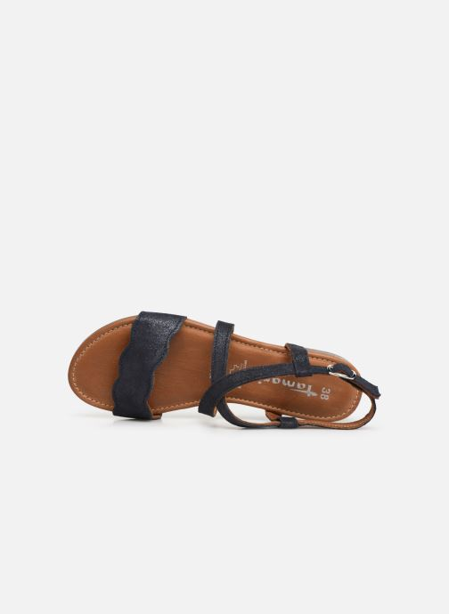 Sandales et nu-pieds Tamaris Juana Bleu vue gauche