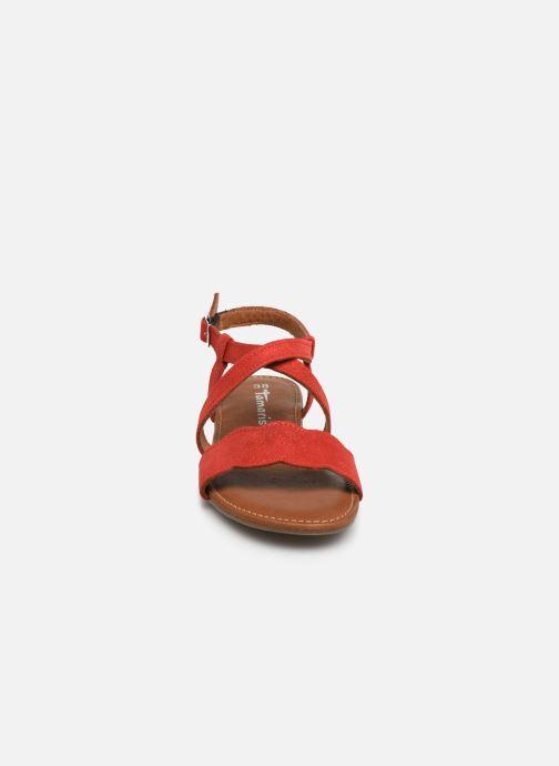Sandales et nu-pieds Tamaris Juana Rouge vue portées chaussures