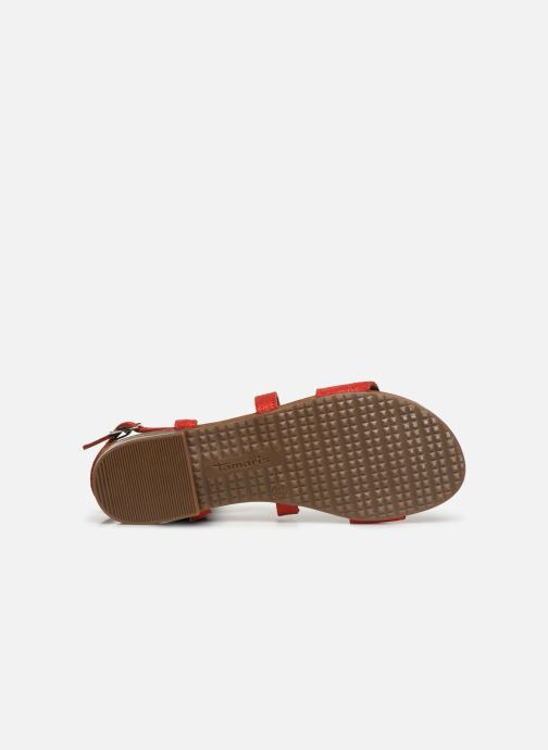 Sandales et nu-pieds Tamaris Juana Rouge vue haut