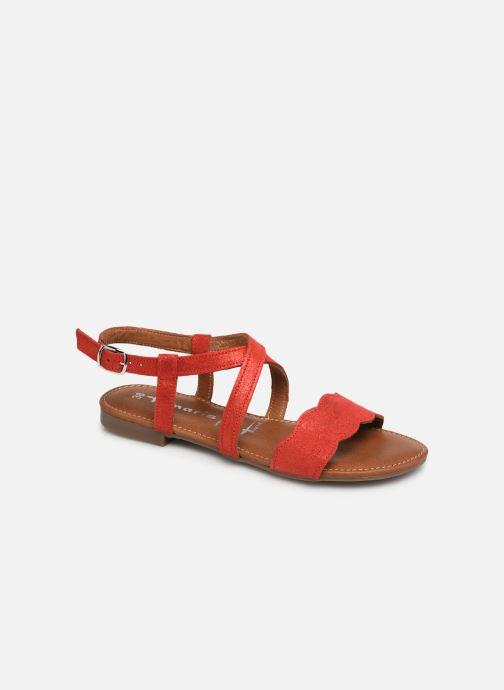 Sandales et nu-pieds Tamaris Juana Rouge vue détail/paire