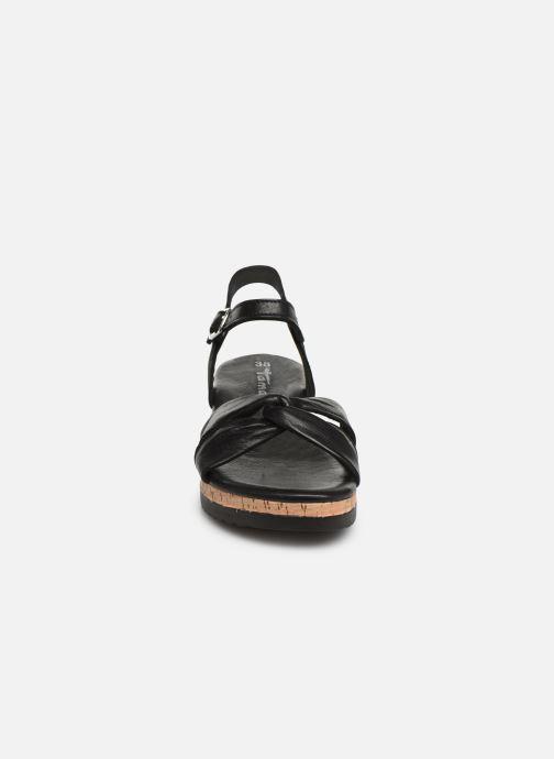 Sandales et nu-pieds Tamaris Lara Noir vue portées chaussures