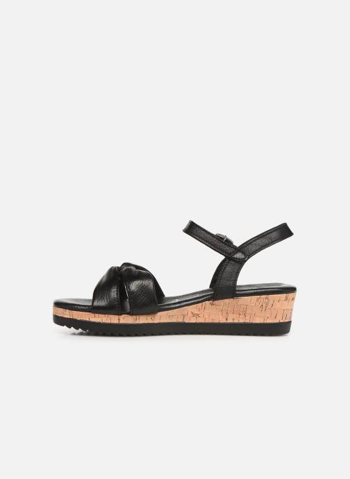 Sandales et nu-pieds Tamaris Lara Noir vue face