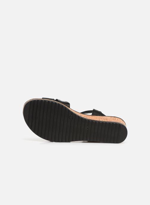 Sandales et nu-pieds Tamaris Lara Noir vue haut