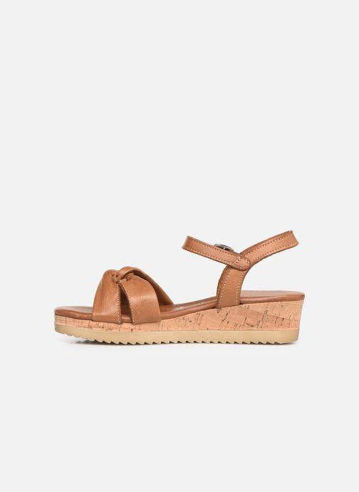 Sandales et nu-pieds Tamaris Lara Marron vue face