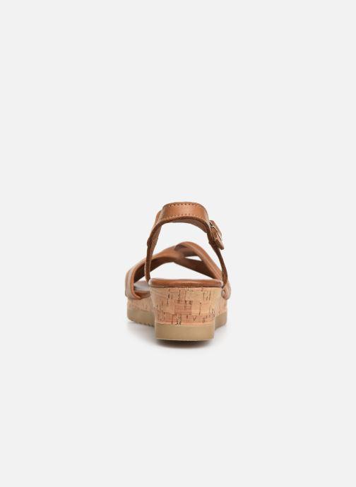 Sandales et nu-pieds Tamaris Lara Marron vue droite