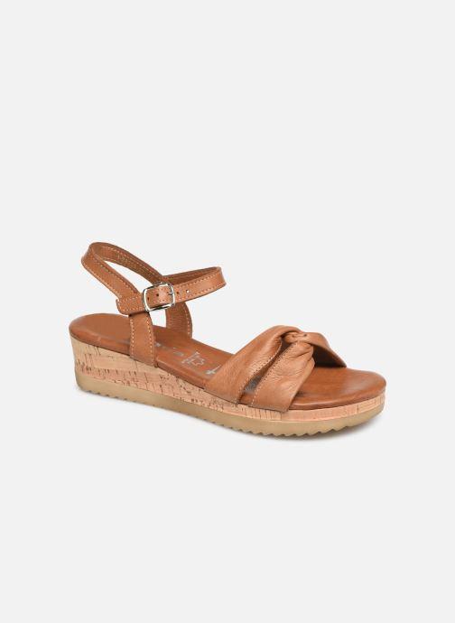 Sandales et nu-pieds Tamaris Lara Marron vue détail/paire