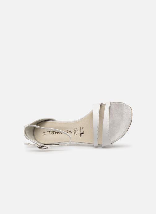 Sandales et nu-pieds Tamaris Micaela Blanc vue gauche