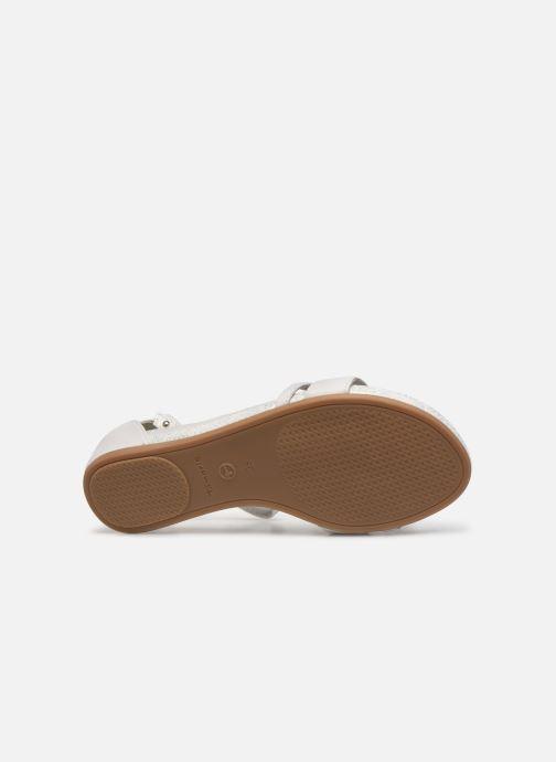 Sandales et nu-pieds Tamaris Micaela Blanc vue haut