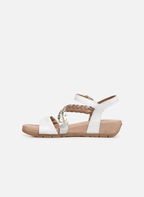 Sandales et nu-pieds Tamaris Palma Blanc vue face