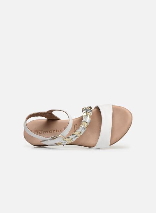 Sandales et nu-pieds Tamaris Palma Blanc vue gauche