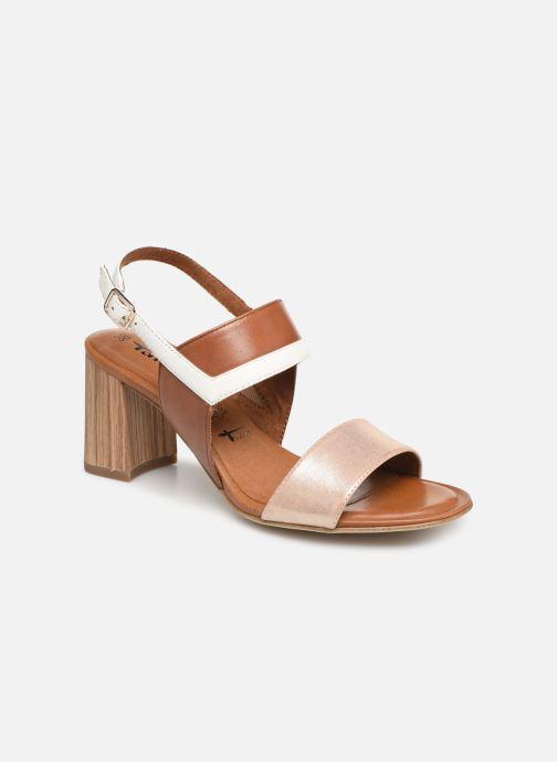 Sandales et nu-pieds Tamaris Almance Marron vue détail/paire