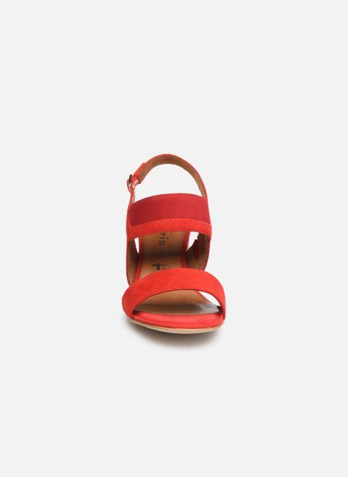 Sandales et nu-pieds Tamaris Almance Rouge vue portées chaussures