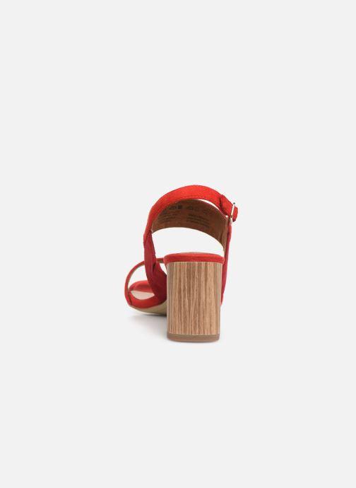 Sandales et nu-pieds Tamaris Almance Rouge vue droite