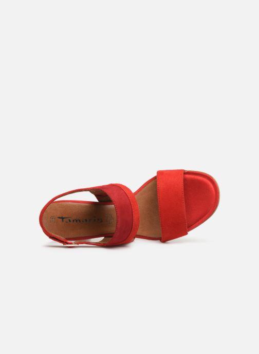 Sandales et nu-pieds Tamaris Almance Rouge vue gauche