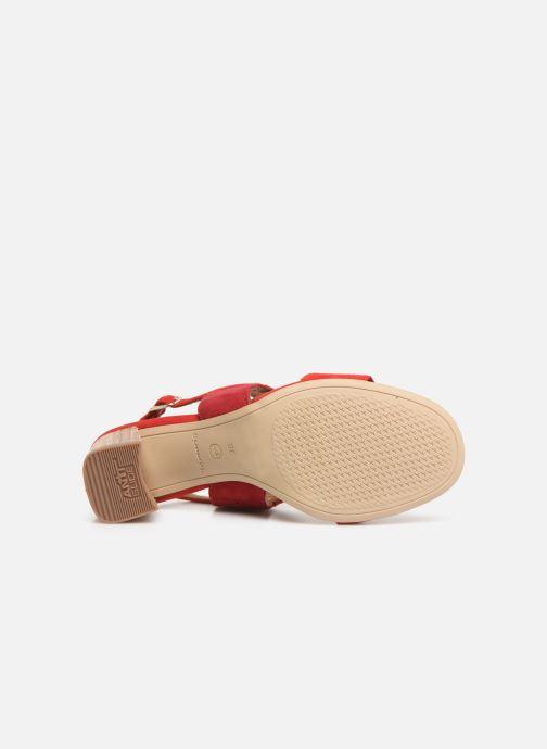 Sandales et nu-pieds Tamaris Almance Rouge vue haut