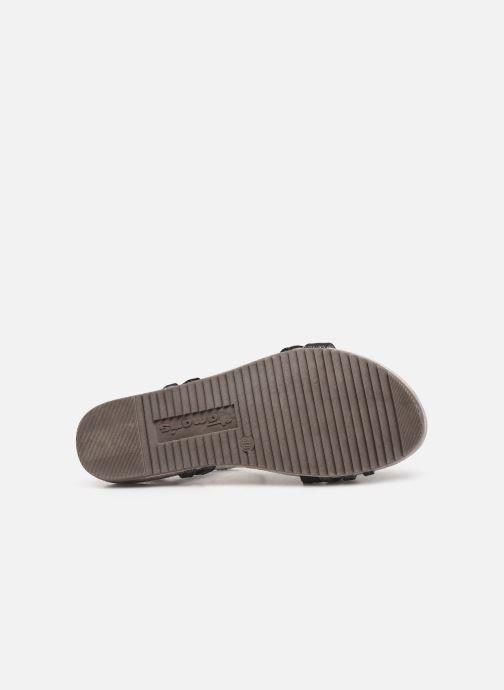 Sandales et nu-pieds Tamaris Barbuise Noir vue haut