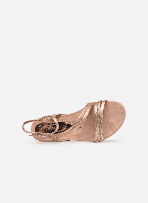Sandales et nu-pieds Tamaris Barbuise Rose vue gauche