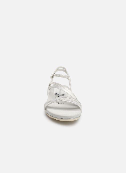 Sandales et nu-pieds Tamaris Barbuise Blanc vue portées chaussures