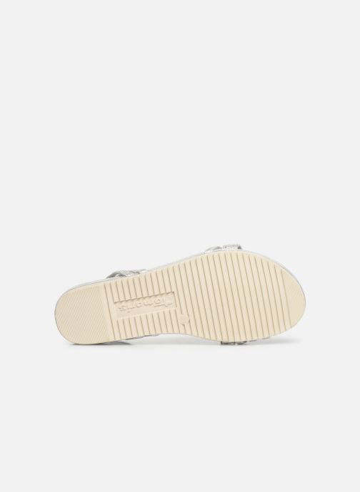 Sandales et nu-pieds Tamaris Barbuise Blanc vue haut