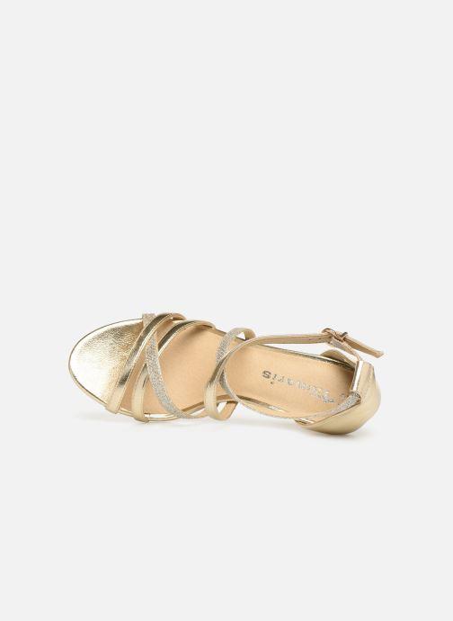 Sandales et nu-pieds Tamaris Petunia Or et bronze vue gauche