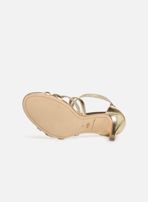 Sandales et nu-pieds Tamaris Petunia Or et bronze vue haut